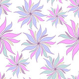 Pastel flowers seamless pattern Royalty Free Stock Photos