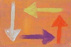 Pastel: Following Directions Stock Photos