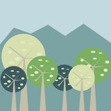 Pastel forest Royalty Free Stock Image