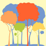 Pastel forest Stock Photos