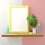 Pastel Frame Mock Up Royalty Free Stock Images