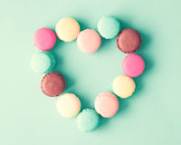 Pastel French Macarons Royalty Free Stock Images