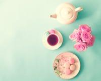 Pastel French Macarons Stock Image