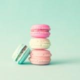 Pastel French Macarons Stock Photos