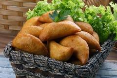 Pastel fried polenta Stock Images