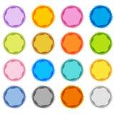 Pastel Fuzzy Starburst Set. An image of a pastel fuzzy edged starburst set Stock Images