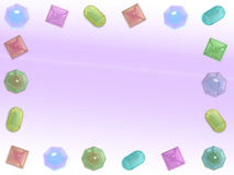 Pastel Gems Frame Stock Images