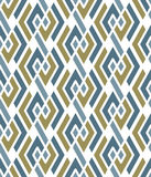 Pastel geometric art seamless pattern, vector mosaic colored int. Erweave background. Symmetric illusive artificial backdrop Stock Photos