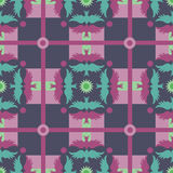 Pastel Geometric pattern with birds Royalty Free Stock Photo