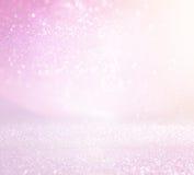 Pastel glitter vintage lights background. de-focused Stock Photography