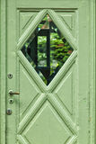 Pastel green door Stock Photo