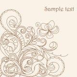 Pastel greeting card Stock Image