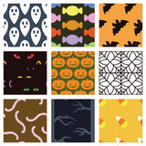Pastel Halloween Background Set Royalty Free Stock Photography
