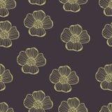 Pastel hand drawing flowers seamless pattern. Pastel hand drawing pink  flowers seamless pattern vector Stock Photo
