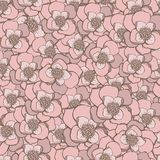 Pastel hand drawing pink  flowers seamless pattern. Pastel hand drawing pink flowers seamless pattern Stock Photography