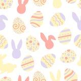 Pastel happy easter bunny pattern. Egg hunt vector illustration for flyer, design, scrapbooking, poster, banner, web. Element stock illustration