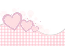 Pastel heart background Stock Images