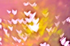 Pastel Heart Bokeh Royalty Free Stock Images