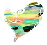 Pastel heart, passion love symbol Stock Images