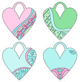 Pastel heart tags or labels Royalty Free Stock Photography