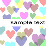 Pastel hearts background Stock Images