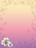 Pastel hearts and flower frame Stock Image