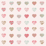 Pastel Hearts Pattern. Illustration of hearts background in pastel colors Royalty Free Illustration