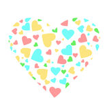 Pastel hearts Royalty Free Stock Photos
