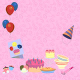 Pastel holiday background Royalty Free Stock Image
