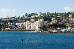 Pastel Hotel on Martinique Coast Royalty Free Stock Photo