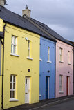 Pastel housefronts Stock Photography
