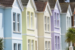 Pastel houses Royalty Free Stock Image