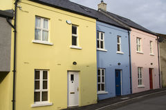 Pastel houses Stock Image
