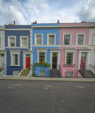 Pastel houses, Notting Hill - London Stock Photos
