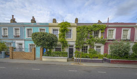 Pastel houses, Notting Hill - London Stock Photos