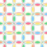 Pastel Interlocking Circles. An illustration of pastel colored interlocking circles stock illustration