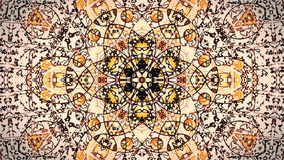 Pastel kaleidoscope sequence patterns. Abstract motion graphics background. Caleidoscope for yoga, clubs, shows, mandala, fractal 3D illustration. Beautiful royalty free stock photography