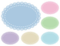 Pastel Lace Doily Place Mats Stock Image