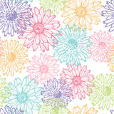 Pastel lace floral seamless pattern Stock Image