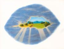 Pastel landscape cloud Stock Photos
