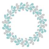 Pastel laurel wreath vector frame Stock Photography