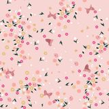 Pastel liberty Seamless floral pattern. Background in small colo royalty free illustration