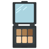 Pastel light brown cream ocher eyeshadows icon. Vector illustration flat style design  on white. Colorful graphics Royalty Free Stock Photo