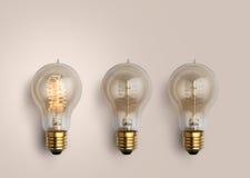 Pastel Light bulbs on pastel background, light bulb creative ide Royalty Free Stock Photo