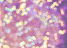 Pastel lilac, green, yellow, violet, purple bokeh lights, real p royalty free stock photo