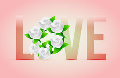 Pastel Love flowers illustration designs Royalty Free Stock Photography