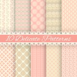 Pastel loving wedding vector seamless patterns Stock Image