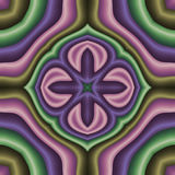 Pastel mandala. Abstract fractal image resembling a pastel mandala Royalty Free Stock Images
