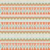 Pastel Mint and Coral Geometric Seamless Pattern. Soft Color Background. Peach blue geometric pattern with hand-drawn elements. Pastel Mint and Coral Geometric Stock Photography