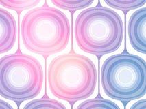 Pastel Mod Wallpaper Background. An illustration of a 50s style design in variegated pastel colors for use in website wallpaper design, presentation, desktop Stock Image
